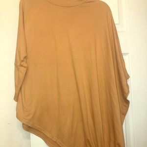 🐣 Asymmetrical suede like blouse 5 for $25 SALE